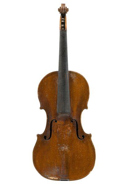 Joli violon travail français 18 ème portant...