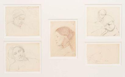 Marie LAURENCIN (1885-1956)  Ensemble de...