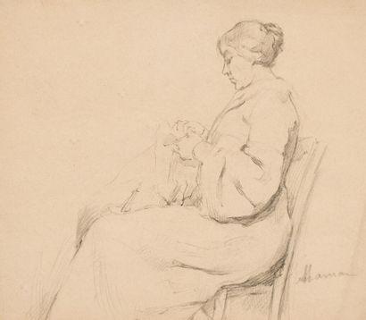 Marie LAURENCIN (1885-1956)  Portrait de...