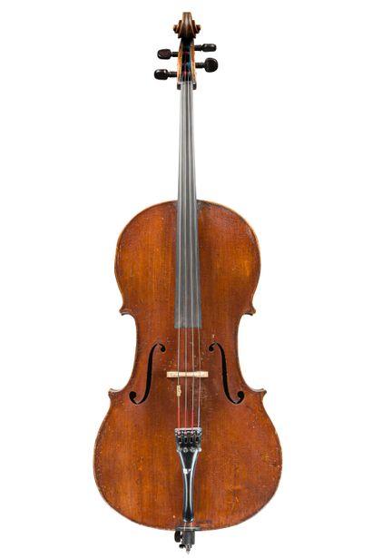 13. Violoncelle travail allemand 19ème. Etiquette...