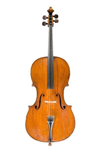10. Joli violoncelle français 18ème étiquette...