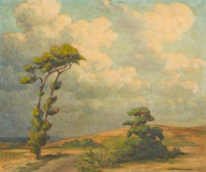 64. Charles DELHOMMEAU (1883-1970)  Paysage...