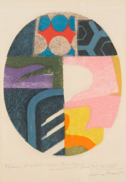 Max PAPART (1911-1994)  Composition abstraite...