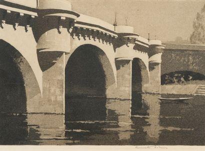 95. Kenneth HOLMES (1902-1994)  Le Pont Neuf...