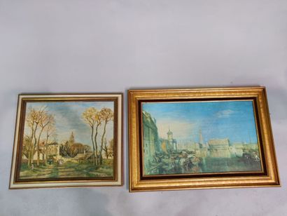 Deux reproductions encadrées