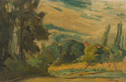 65. Serge FOTINSKY (1887-1971)  Paysage arboré...