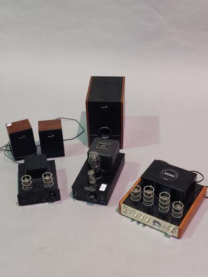 Trois amplis à lampe de marque KODA (TA10BT),...