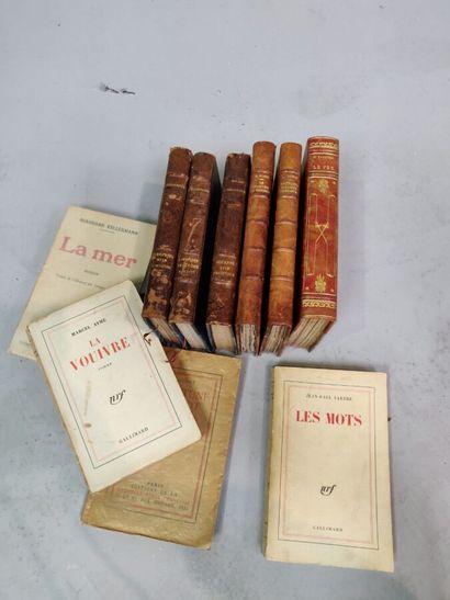 SARTRE Les mots, 1963 (SP) envoi, et 19 vol...