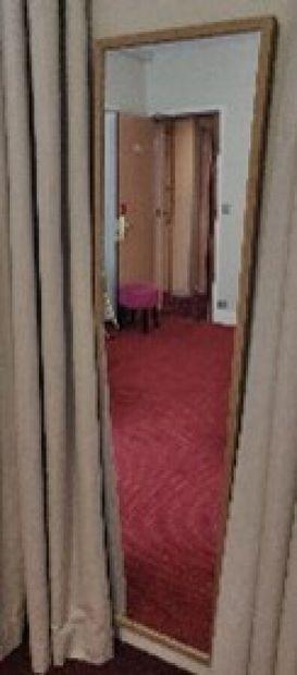 Miroir rectangulaire façon bois clair  H.:...