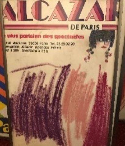 Lot de trois affiches encadrées: «L'ALCAZAR»,...