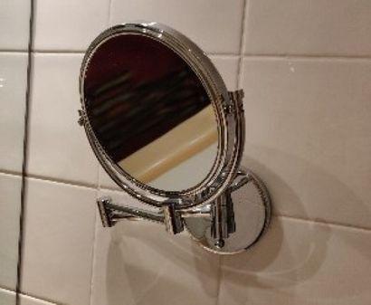 Lot de miroirs grossissants en métal chromé...