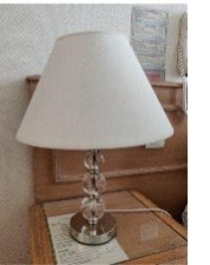 Laura Ashley, paire de lampes en métal chromé,...