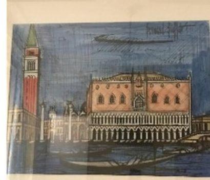 D'après B. BUFFET  Vue de Venise  Reproduction...