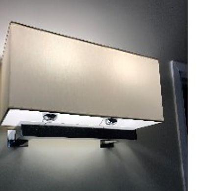 Applique à deux lumières en métal nickelé,...