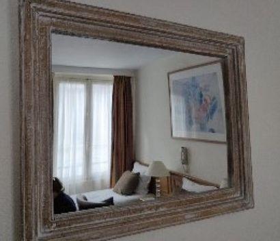 Deux miroirs façon bois clair cérusé  80...