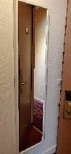 Cinq miroirs rectangulaires laqués blanc H.:...