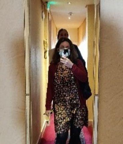 2 Miroirs cintrés  H.: 127 cm; L.: 40...