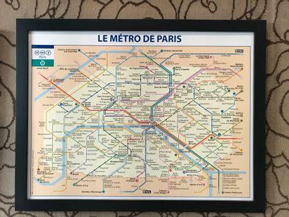 Plan du Métro Parisien, 67 x 87 cm