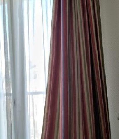 Paire de rideaux en toile enduite, motif...