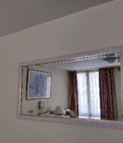 Miroir rectangulaire façon bois cérusé et...