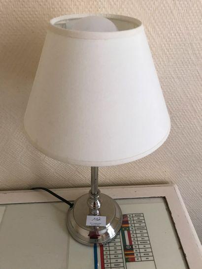 Lot de deux lampes : - Lampe colonne en...