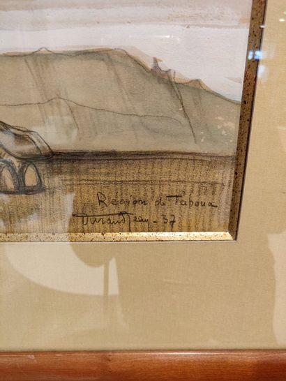 Jean DURAND (1894-1977)  Touareg  Dessin, daté 37  67 x 38 cm.