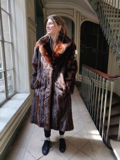 Manteau de Vison brun
