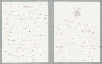 SARAH BERNHARDT, L.A.S., 1885, à Raoul Ponchon...