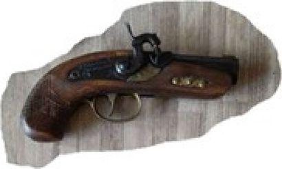 Pistolet DERRINGER Cal. 45. Poudre noire....