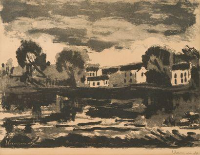 Maurice de VLAMINCK (1876 - 1958)  L'Oise...