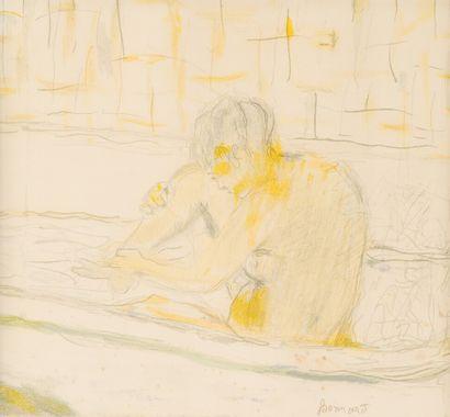 Pierre BONNARD (1867-1947)  Femme assise...