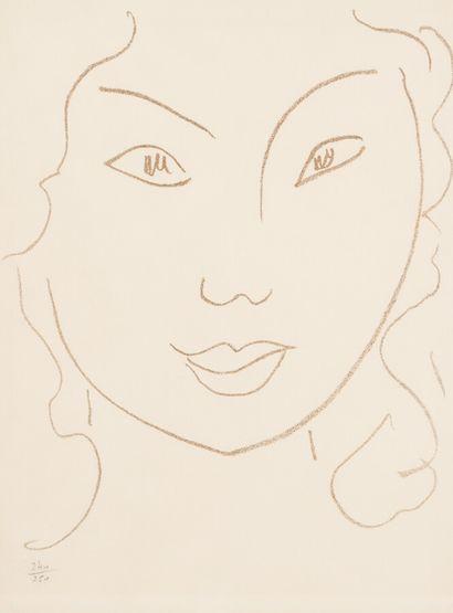Henri MATISSE (1869 - 1954)  Visage.  Illustration...