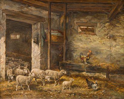 CERAMANO, Charles Ferdinand (1829-1909)  Ferme...
