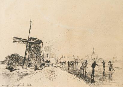 Johan Barthold JONGKIND (1819-1891)  Vue...