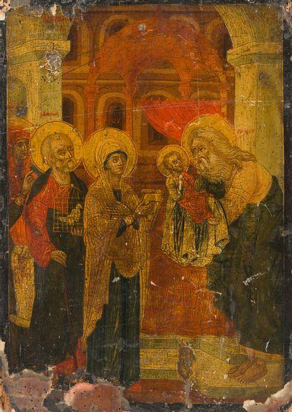 La Présentation du Christ au Temple  Icône...