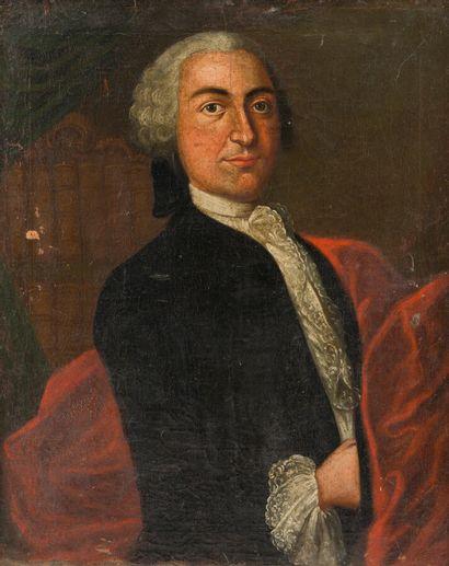 Ecole allemande (?) du XVIIIe siècle  Portrait...