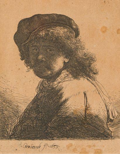 REMBRANDT VAN RIJN (1606-1669)  Autoportrait...
