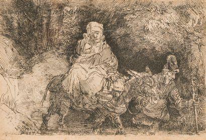 REMBRANDT VAN RIJN (1606-1669)  Fuite en...