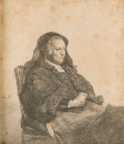 REMBRANDT VAN RIJN (1606-1669)  La Mère de...