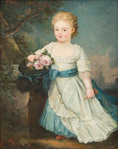 Ecole française du XIXe siècle  Jeune fille...