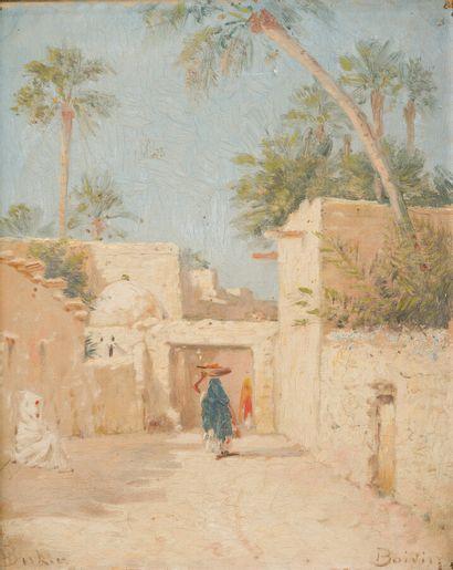 Emile BOIVIN (1846-1920)  Village en Afrique...