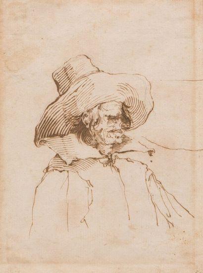 Ecole de Jacques CALLOT  Vieillard au chapeau...
