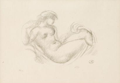 Aristide MAILLOL (1861-1944)  Femme en berceau,...