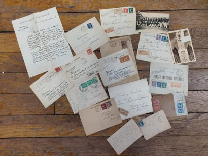 Lot de lettres timbrées