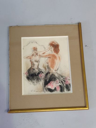 Fabien FABIANO (1883-1962)  « Femme se recoiffant»...