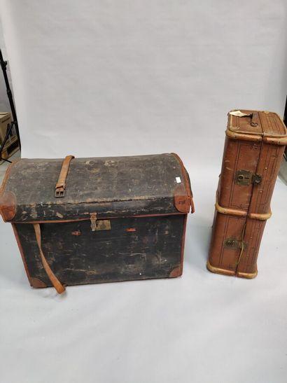 Une grande malle et une valise  (En l'état)...