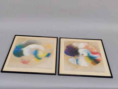 Ecole contemporaine  Composition abstraite...