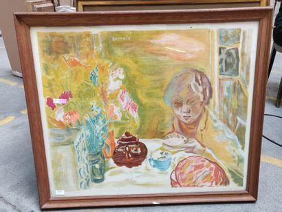 BONNARD  Reproduction.  89 x 74 cm  On y...