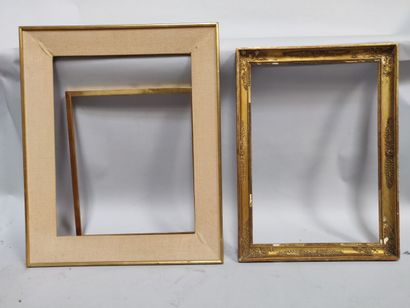 Set of three frames, one with palmettes.  (Accidents)  75 x 55 cm