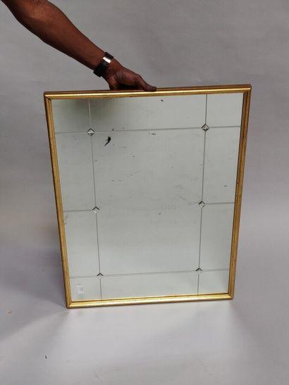 Miroir à perles  84 x 62 cm